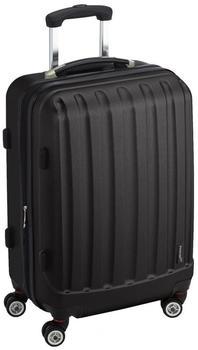 Packenger Premium Reisekoffer Velvet L in Schwarz, mit TSA-Schloss