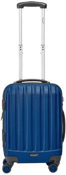 Packenger Hartschalen-Trolley Velvet M 4 Rollen blau