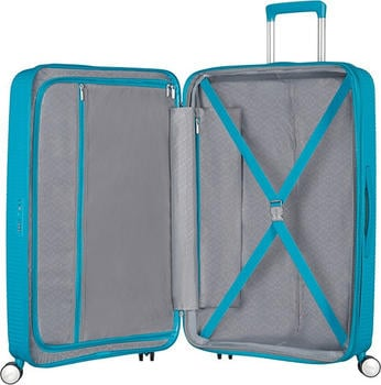 american-tourister-soundbox-spinner-77-28-expandable-koffer-77-cm-97-l-summer-blue