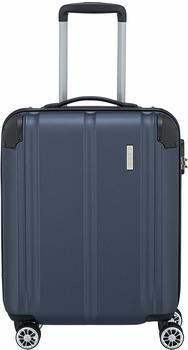 Travelite City 4-Rollen-Trolley 55 cm marine