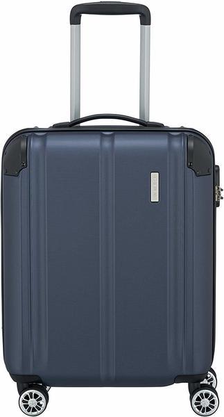 Travelite City 4-Rollen-Trolley 55 cm marine