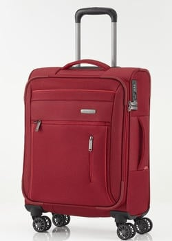 Travelite Capri 4-Rollen-Trolley 55 cm red
