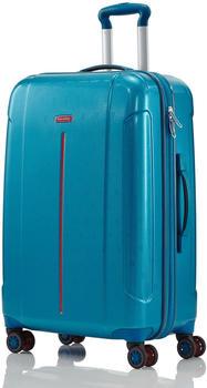 Travelite Echo 4-Rollen-Trolley 68 cm aqua