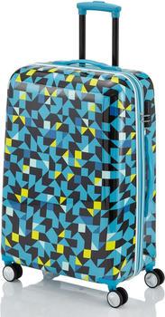 Travelite Campus Hard 4-Rollen-Trolley 68 cm quadro blue