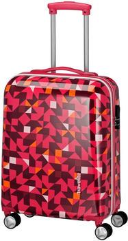Travelite Campus Hard 4-Rollen-Trolley 55 cm quadro pink