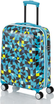 Travelite Campus Hard 4-Rollen-Trolley 55 cm quadro blue