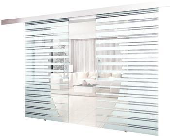 Home Deluxe Doppelglasschiebetür 2x 775 x 2050 mm