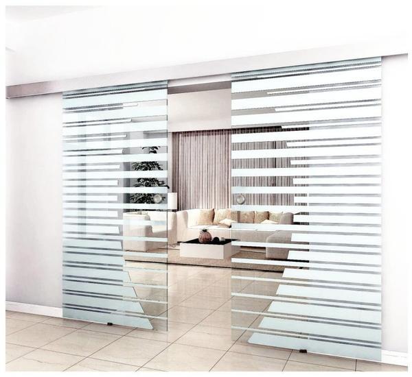 Home Deluxe Doppelglasschiebetür 900 x 2000 mm