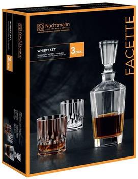 Nachtmann Facette Whisky Set Facette 3tlg. (klar)