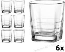 Ritzenhoff & Breker Whiskygläser Quam, eckig, Tumbler, 300ml, 6 Stück