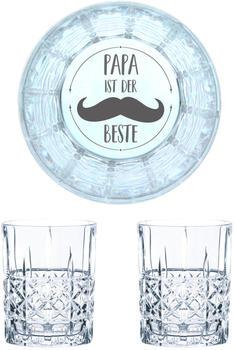 Nachtmann Whiskyglas Gravur Papa Ist Der Beste 345 ml, 2er Set