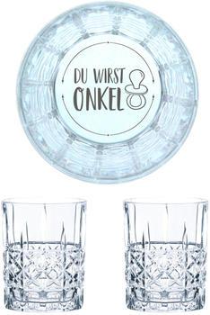 Nachtmann Whiskyglas Gravur Du Wirst Onkel 345 ml, 2er Set