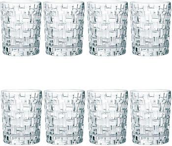 Nachtmann Dancing Stars Bossa Nova Whiskybecher Set, 8er Set, Whiskyglas, Tumbler, Kristallglas, H 10 cm, 330 ml