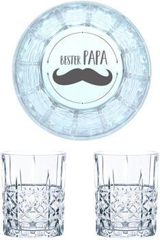 Nachtmann Whiskyglas Gravur Bester Papa 345 ml, 2er Set