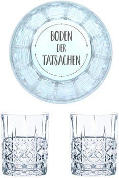 Nachtmann Whiskyglas Gravur Boden der Tatsachen 345 ml, 2er Set