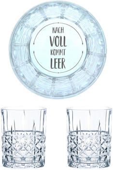 Nachtmann Whiskyglas Gravur Nach Voll Kommt Leer 345 ml, 2er Set