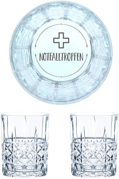 Nachtmann Whiskyglas Gravur Notfalltropfen 345 ml, 2er Set