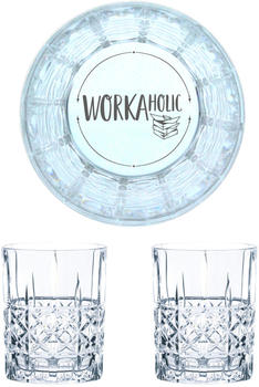 Nachtmann Whiskyglas Gravur Workaholic 345 ml, 2er Set