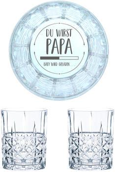 Nachtmann Whiskyglas Gravur Du Wirst Papa 345 ml, 2er Set