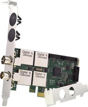 Digital Devices Twin Tuner TV Karte DVB-C/C2/T/T2 DD Cine T2I V7