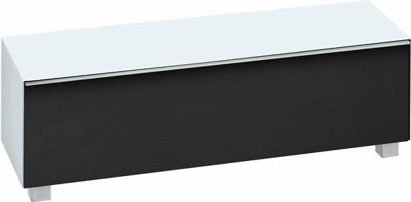 Maja 7736 Soundboard Weißglas matt/Akustikstoff schwarz