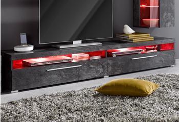 TRENDMANUFAKTUR TV-Lowboard 2000 mm schieferfarben