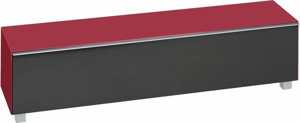 Maja 7738 Soundboard Glas himbeerrot matt/Akustikstoff schwarz