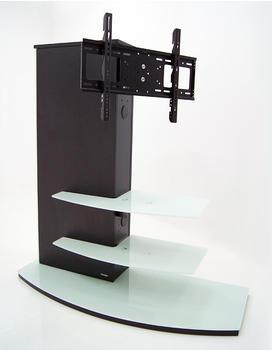 Casado Plasma LCD TV Rack Almeria Schwarz/Klarglas