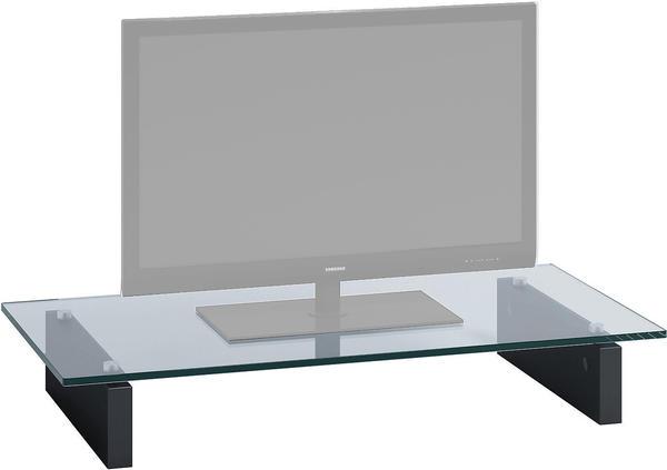 JAHNKE Z-GA 80 TV-Aufsatz Klarglas/schwarz