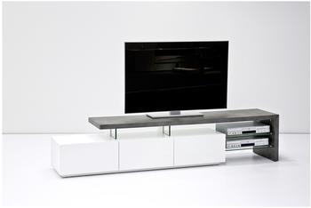 MCA Furniture Alimos TV-Lowboard 2040 mm weiß matt/Betonoptik