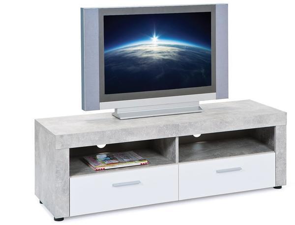 Interlink TV-Lowboard 1340 mm weiß/grau