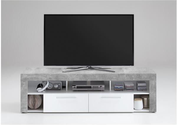 FMD Vibio 2 TV-Lowboard 1800 mm grau/weiß