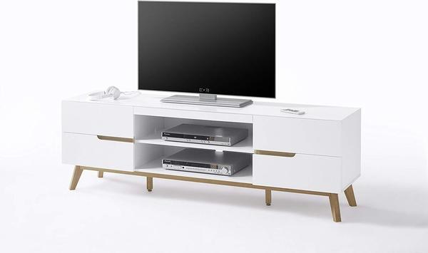 MCA Furniture Cervo TV-Lowboard 1690 mm weiß matt/Eiche
