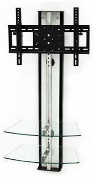 Casado Wandsäule mit Ablagen für Plasma LCD Monitore Oviedo Weißglas