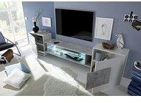 Classico Incastro TV-Lowboard 2580 mm weiß/Beton