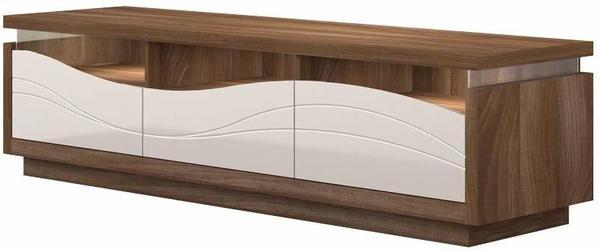 Steiner Shopping Patamea 03 TV-Unterschrank 1800 mm nussfarben/creme Hochglanz