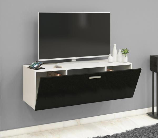 VCM TV-Wandboard Fernso 115cm Weiß/Schwarz