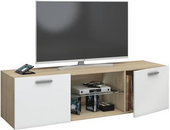 VCM TV-Wandboard Jusa 140cm Sonoma/Weiß