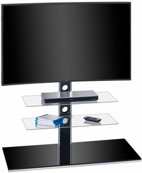 Maja 1630 TV-Rack 100cm Schwarzglas