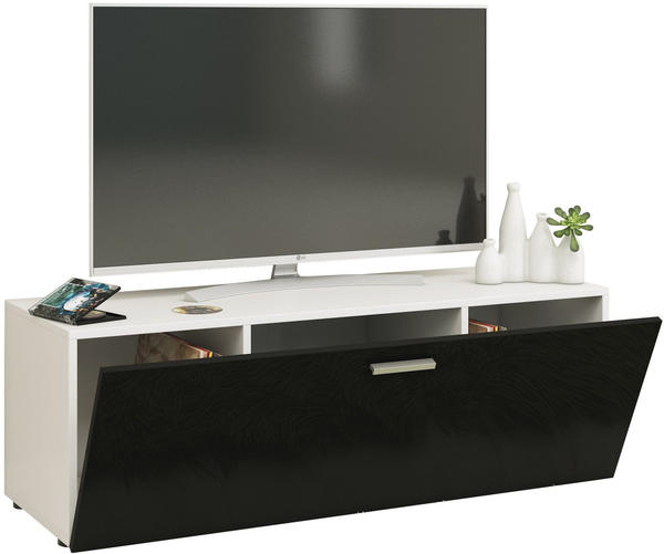 VCM TV-Lowboard Winalo 115cm Weiß/Schwarz