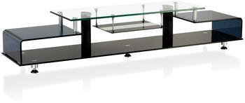 BHP Luxus TV Regal Chrom Lowboard Wohn Zimmer Sideboard Möbel Sicherheitsglas Fernseh Tisch BHP B153018