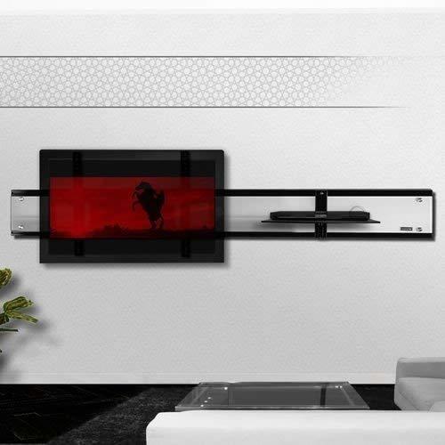 Casado Wandsäule mit Ablage für Plasma LCD Monitore Cadiz Rotglas