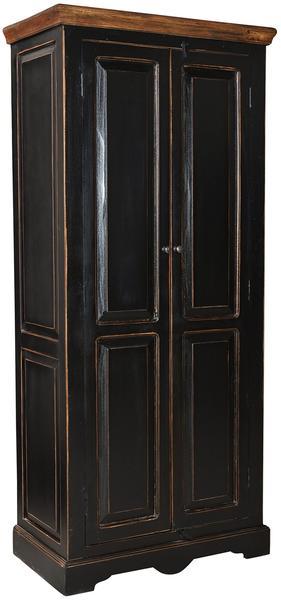 SIT Möbel Schrank teilmassiv schwarzhonigfarbig Woody 11-01345