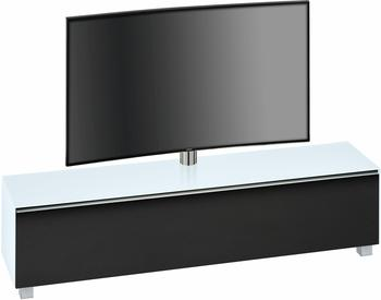 Maja Möbel Soundconcept 7740 TV-Lowboard schwarz/Weißglas matt