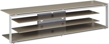 Maja JOICE 5204 TV-Rack 170cm platingrau/Glas sand