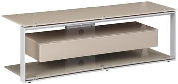 Maja JOICE 5202 TV-Rack 130cm platingrau/Glas sand