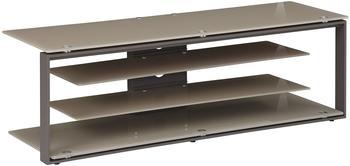 Maja JOICE 5200 TV-Rack 130cm anthrazit/Glas sand