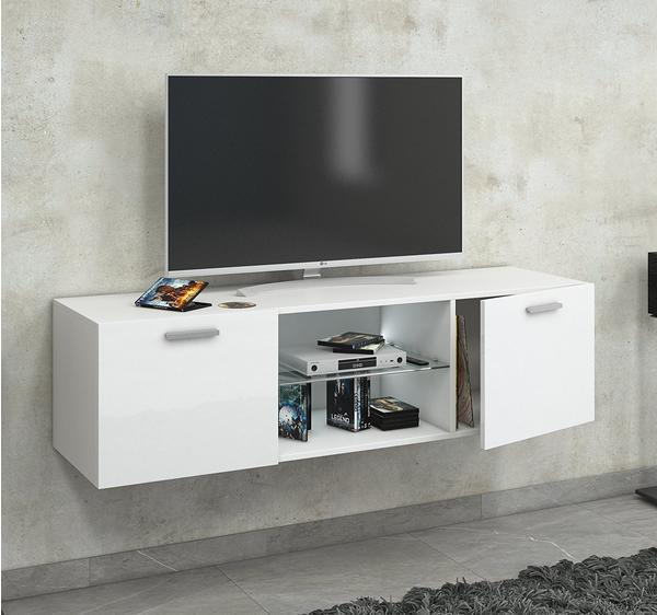 vcm lowina tv lowboard 1400 mm schwarz hochglanz preisvergleich ab 138 99. Black Bedroom Furniture Sets. Home Design Ideas