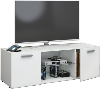 VCM TV-Lowboard Lowina 115cm Weiß