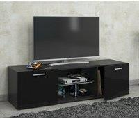 VCM Lowina TV-Lowboard 115 cm schwarz Hochglanz